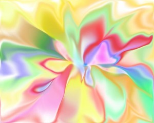 Dibujo sicodelico de colores