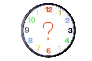 Ssigno de interrogacion en un reloj