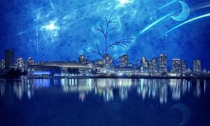 Cielo estrellado, ciudad
